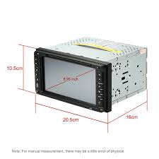 6 95 inch hd touch screen car dvd player in dash 2 din car pc