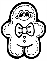 gingerbread christmas coloring pages kids gingerbread man