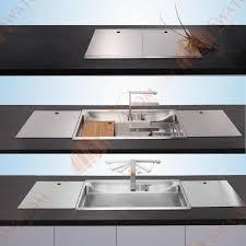 Kitchen Sinks Top Mount 34 Inch 12mm Thickness 3d Hidden Stainless Steel Topmount Drop In