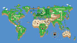 Seine River World Map by Super Mario World Global Map 1920 X 1080 Rebrn Com