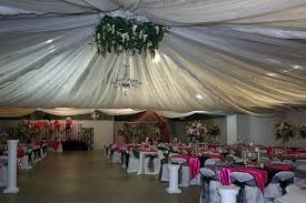 ceiling draping for weddings you will never believe what the fabric is it is septic tank liner