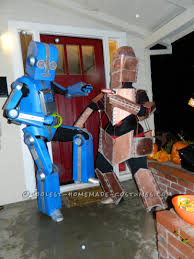 a lot of halloween costumes awesome articulated carboard robot costume with tape player