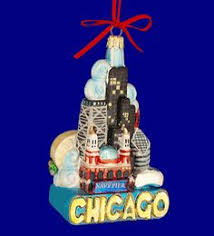 chicago landmarks ornament glass chicago skyline ornament