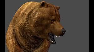 brown bear animated 3d model