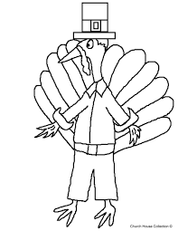 thanksgiving pilgrim turkey coloring page the holidays