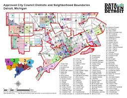 Map Of Detroit Michigan Electing City Council By District Could Change The Conversation