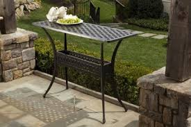 outdoor console table alfresco home cast aluminum outdoor sideboard console