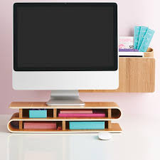 Modern Desk Accessories And Organizers Three By Three Ashwood Up Rise Desktop Organizer The Container