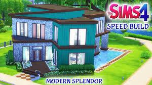 sims 4 house build modern splendor family home with pool youtube