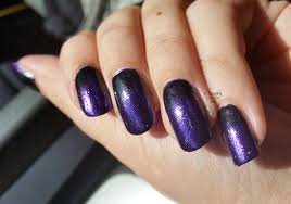 purple and black gradient nails u2013 a simple halloween nail art look