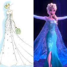 elsa wedding dress calling all frozen fanatics an elsa inspired wedding dress can