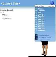 course template with drop down menu trivantis community