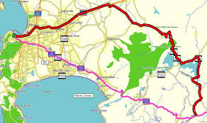 map of the road self drive 1 route from cape town to pe via garden route south