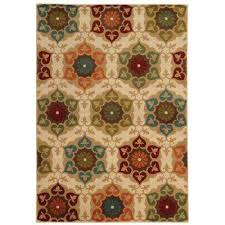 Shaw Living Medallion Area Rug 5 X 8 Area Rugs Rugs The Home Depot