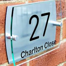 glass door signs modern house sign plaque door number glass by housesigns4home