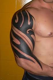 fabulous black tribal on arm designs pictures