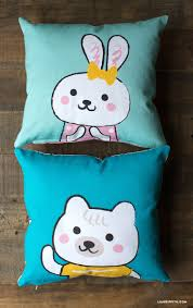 easy canvas kids pillows lia griffith