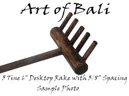 Garden Rake Types - amazon com art of bali zen garden rake five tine desktop rake
