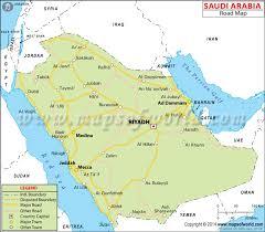 map in road arabia road map