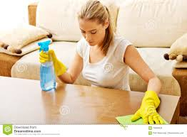 Cleaning Table Stock Images Royalty by Tired Young Woman Cleaning Table In Yellow Gloves Stock Photo
