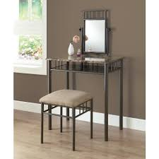 Home Depot Vanity Table Monarch Specialties 2 Piece Cappuccino And Bronze Vanity Set I
