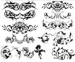 ornament borders elements 9 ai format free vector