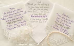 sayings for and groom wedding handkerchiefs