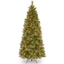 buy the 7 5 ft pre lit tacoma pine slim artificial christmas tree