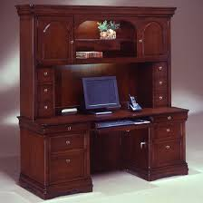 Hutch Office Desk Credenza With Hutch Desk Set Executive Office Furniture
