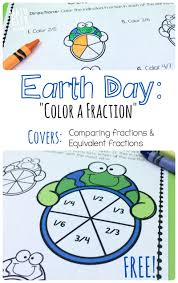 fractions math earth day fraction math pack