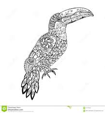 zentangle stylized toucan stock vector image 61479251