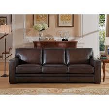 Leather Sofa Brown Brace Sofa Wayfair