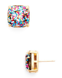glitter stud earrings kate spade new york small square glitter stud earrings