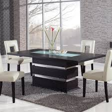 global furniture usa dg072dt glass inlay dining table with metal