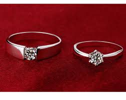 korean vintage wedding rings for silver color cubic