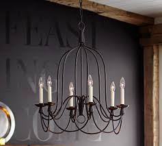 Pottery Barn Fixtures by Armonk 6 Arm Indoor Outdoor Chandelier Pottery Barn