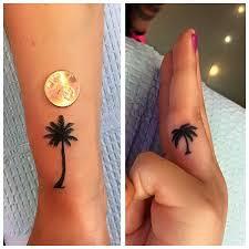 palm tree palm tree tattoos mini palm tree finger