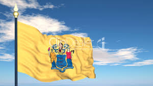 New Jersy Flag Flag Of The State Of New Jersey Usa Royalty Free Video And Stock