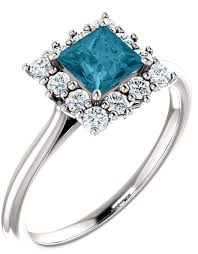blue london rings images London blue topaz princess cut and diamond halo ring 14k white gold jpg