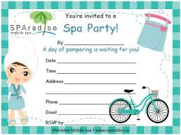 20 best spa party printables images on pinterest mobile spa spa