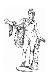 statue of god apollo of greek mythology colouring page fun colouring