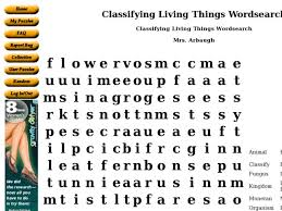 classifying living things wordsearch 9th 10th grade worksheet