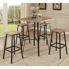 Acme Dining Room Sets by Acme Furniture Dora 5 Piece Pack Bar Set Gray Oak U0026 Black 72730