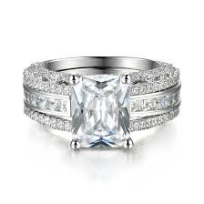 silver wedding ring sets interchangeable created white sapphire 925 sterling silver wedding