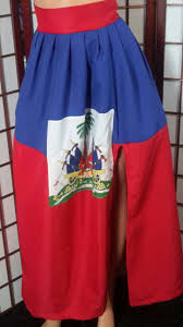 Haitian Flag Day Custom Haiti Flag Maxi Skirt Haitian Dress Haitian Flag Day