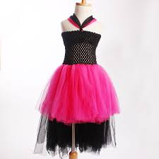 Halloween Baby Birthday Party Adorable Girls Tutu Dress Rockstar Queen Inspired Kids Dress For