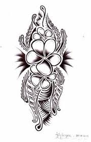 Polynesian Flower Tattoo - in love with the flower more than anything tribal tattoo with