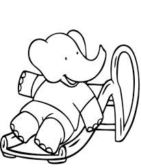 babar elephant hug dog coloring pages batch coloring