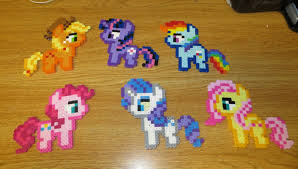 my little pony perler bead magnets homemade twilight