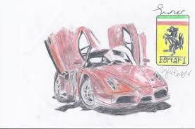 ferrari enzo sketch enzo ferrari drawing updated by amezy2000 on deviantart